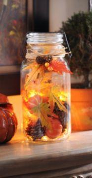 The Harvest Celebration Pre-Lit Jar will light up your home with harvest happiness! #kirklands #kirklandsharvest