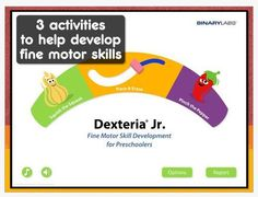 Dexteria Jr. for children ages 3-5 years.