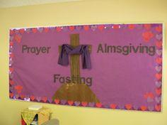 Lenten Bulletin Board