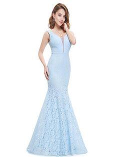 ELSPETH LACE Dress - Pale Blue
