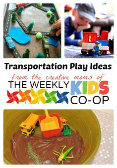 Playing Cars, Trains, and Trucks with The Weekly Kids Co-Op - #kids #play at B-InspiredMama.com