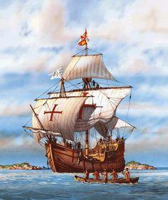 Sailboat Art, Nautical Art, Uss Kearsarge, Old Sailing Ships, Ship Drawing, Maputo, Marine Boat, Conquistador, Santa Maria