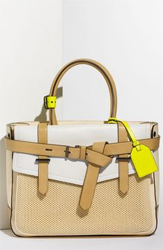 "Reed Krakoff ""Boxer"". The pop of yellow makes me happy. This would be such a great summer bag."