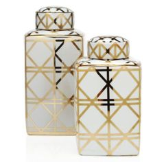 Create a stylish standout display with these eye-catching #canisters in various sizes. So chic! Alexa Canister from Z Gallerie