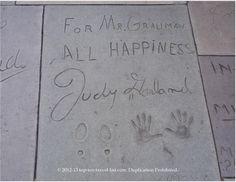 Judy Garland hand and foot prints at the #Hollywood Walk of Fame #wizardofoz