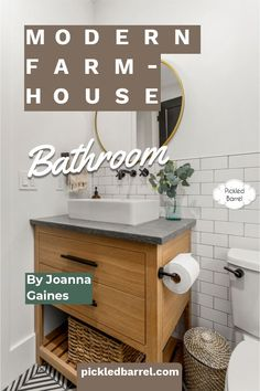 Beautiful modern farmhouse bathroom ideas and inspiration you need to see. Whether you love classic black and white, neutral, or farmhouse stand outs, there's something to inspire you! #pickledbarrelblog #modernfarmhousebathroomideas Gothic Home Decor, Fall Home Decor, Home Decor Kitchen, Minimalist Home Interior, Minimalist Decor, Interior Modern, Cheap Bedroom Decor, Cheap Home Decor, Modern Farmhouse Bathroom