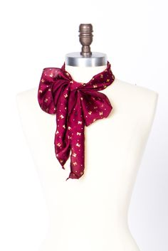 bow & dot neck scarf