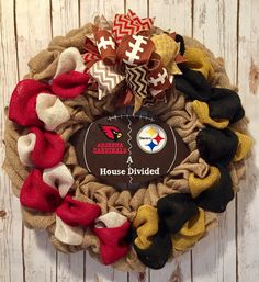 A personal favorite from my Etsy shop https://www.etsy.com/listing/549985331/arizona-cardinals-wreath-pittsburgh