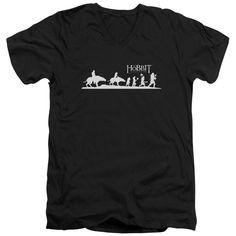 Hobbit/Orc Company Short Sleeve Adult T-Shirt V-Neck 30/1