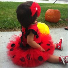 Favorite tutu project so far! Baby girl got to be a lady bug! :)