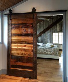porte à galandage en bois massif