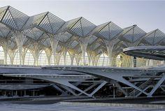 """Oriente Station"" {#Lisbon , Portugal; architect Santiago Calatrava}"