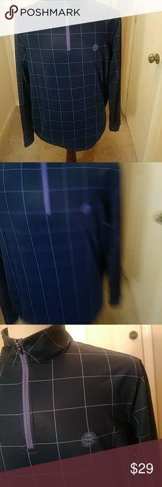 Peter millar This sale is for men peter millar wicking 4 navy check soft shell long sleeve golf shirt size large Peter Millar Jackets & Coats Lightweight & Shirt Jackets