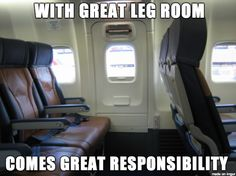 What I thought when the flight attendant told me I was responsible for the emergency door. #funny #lol #humor