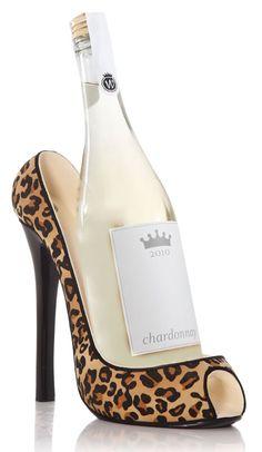 Leopard Shoe Wine Bottle Holder  