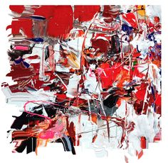 """Detail of """"Adrenaline""""  #abstract painting #NY artist #adamcohenstudio.com #contemporary art #gestural abstraction"""
