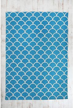 5x7 stamped scallop rug, $74.00