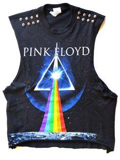 Pink Floyd studded Crop top by NewSpiritVintage on Etsy, $28.00