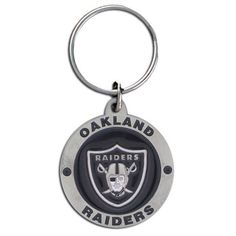 Oakland Raiders Carved Metal Key Chain #25566