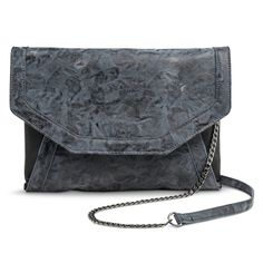 Women's Limited Edition Envelope Clutch Handbag with Chain Link Strap - Gray