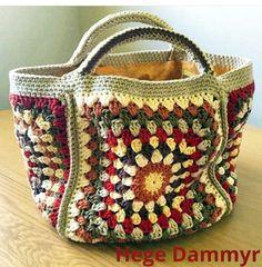 Basket crochet diy yarns ideas for 2019 Crochet Shell Stitch, Crochet Tote, Crochet Handbags, Crochet Purses, Love Crochet, Diy Crochet, Crochet Stitches, Crochet Patterns, Knitting Patterns