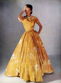 Christian Dior 1952 Evening Gown by stacy