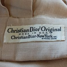From a 1950s linen jacket.  https://www.etsy.com/listing/193553920/1950s-christian-dior-original-jacket