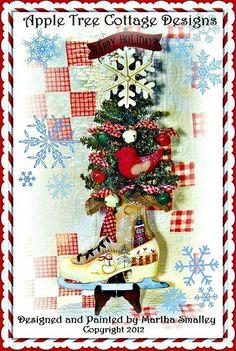 E Pattern - Happy Holidays Christmas Tree Ice Skate. $5,00, via Etsy.