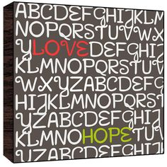 Love, Hope wood Art