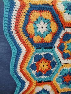 African Hexagon Blanket (5) by robjs10, via Flickr