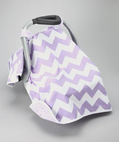 Take a look at this Posh Comforts Crazy Purple Car Seat Canopy by Posh Comforts on #zulily today!
