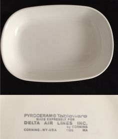 Delta Airlines serving tray by Corning.  (4)