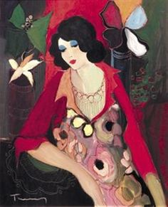 Tarkay, Itzchak  Margaret's Wish  2001  Serigraph in color on canvas with hand embellishment.