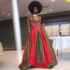 Natural High School Senior Breaks the Internet with Stunning Self-Designed Afrocentric Prom Gown