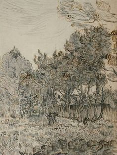 """A Corner of the Garden of St Paul's Hospital at St Rémy"", 1889, Vincent van Gogh."