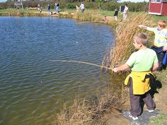 Make It From Scratch: Family Fishing Fun + How to Make a Cane Pole ~ Lots of fun for the kids with their own fishing poles, plus they can use it for crawdadding, too! All you need to bring from home is a spool of fishing line and a box of hooks. Oh, and the band aids.