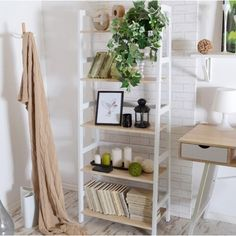 Selsey TOWER - Scandinavian Inspired Bookcase / Bookshelf / Rack and Storage Compartment White and Sonoma Oak) Indie Room Decor, Aesthetic Room Decor, Room Ideas Bedroom, Bedroom Decor, Bedroom Inspo, Chambre Indie, Cute Apartment, Minimalist Room, Bedroom Accessories