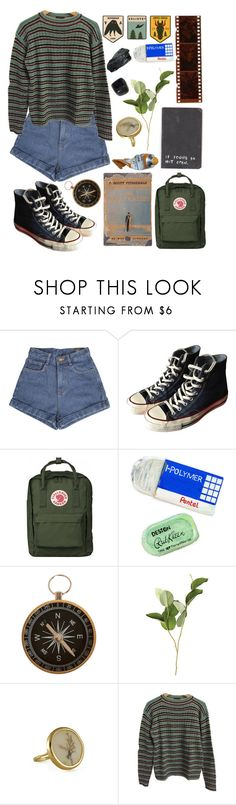"""""""Readdd"""" by strangesthing ❤ liked on Polyvore featuring Converse, Thread, Pentel, Clips, OKA and Prada"""