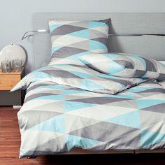 Clever Mittig Satin Streifen Marineblau Grün Silber Weiß Kingsize-bettbezug Bettwaren, -wäsche & Matratzen Bettwäsche