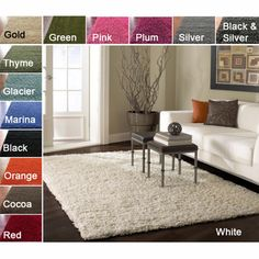 @Overstock.com - Soft and plush, this shag area rug makes a fun addition to any fashionable space. $130.99