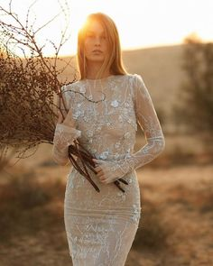 Best Wedding Dresses Collections for 2021/2022 ❤ best wedding dresses sheath with long sleeves lace bohemain lizmartinez #weddingforward #wedding #bride