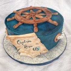 Nautical themed chocolate cake Nautical Birthday Cakes, Nautical Theme, Chocolate Cake, Tray, Desserts, Google Search, Food, Chicolate Cake, Tailgate Desserts
