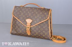 Authentic Louis Vuitton Monogram Beverly Business Bag With Strap M51121