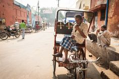 Man in bicycle cart in Agra, India #India #travelphotography #travelphotographer #streetphotography #streetphotographer