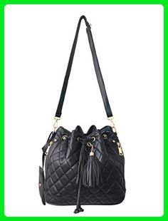 f3eb950bff1e RW Collections Bidoll Quilted Fashion Designer Bucket Crossbody Shoulder Bag  Handbag