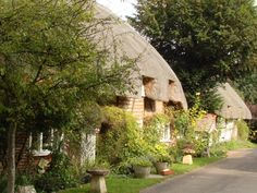 Nether Wallop, Hampshire, UK. Beautiful chocolate box cottages adorn this village