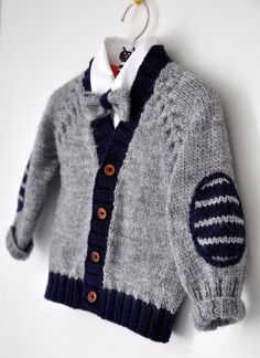 Baby Strickjacke Baby Jungenkleidung Baby Pullover Kinder von EwMik: Baby Strickjacke Baby Jungenkleidung Baby Pullover … - The world's most private search engine Baby Cardigan Knitting Pattern Free, Baby Boy Knitting Patterns, Knitting For Kids, Baby Knitting, Crochet Baby, Baby Boy Cardigan, Cardigan Bebe, Knit Baby Sweaters, Baby Boy Blankets