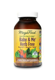 Amazon.com: MegaFood DailyFoods Baby and Me Herb Free -- 120 Tablets: Health & Personal Care