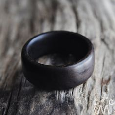 Wood ring Men Women Wood jewelry Rustic by ChezMaitreCorbeau