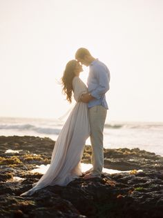 Romantic Tulum Engagement Session in a Handmade Gown | Wedding Sparrow…